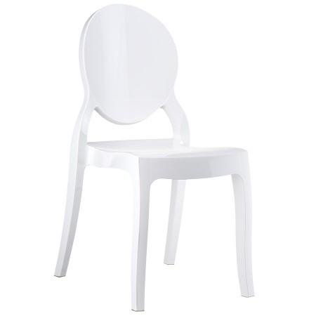 Chaise médaillon 'ELIZA' blanche en matière plastique