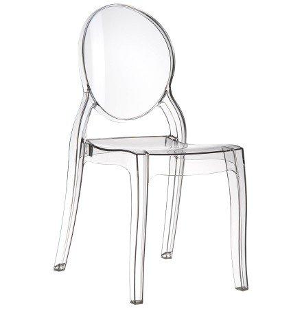 Chaise design ELIZA transparente en matiere plastique - Alterego