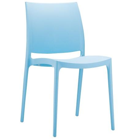 Chaise design 'ENZO' bleue