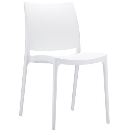 Chaise design 'ENZO' blanche