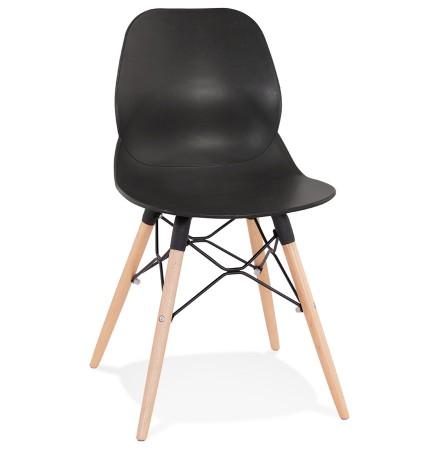Chaise scandinave 'EPIK' noire moderne