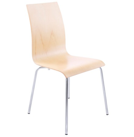 Chaise de salle à manger design 'ESPERA' en bois finition naturelle