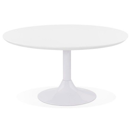 Table basse lounge ESTRELLA blanche - Ø 90 cm
