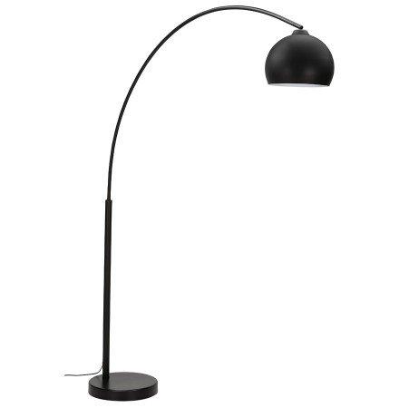 Lampadaire en arc 'FLAVIO' noir design