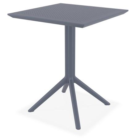 Table de terrasse pliable 'FOLY' carrée grise foncée - 60x60 cm