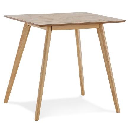 Petite table à diner 'GENIUS' finiton naturelle - 80x80 cm