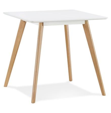 Petite table à diner 'GENIUS' en bois finiton blanche - 80x80 cm