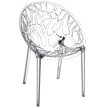 Chaise moderne 'GEO' transparente en matière plastique