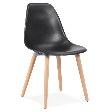 Chaise design scandinave 'GLORIA' noire