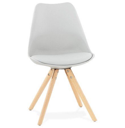 Chaise scandinave 'GOUJA' grise