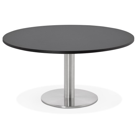 Table basse lounge HOUSTON noire - Ø 90 cm