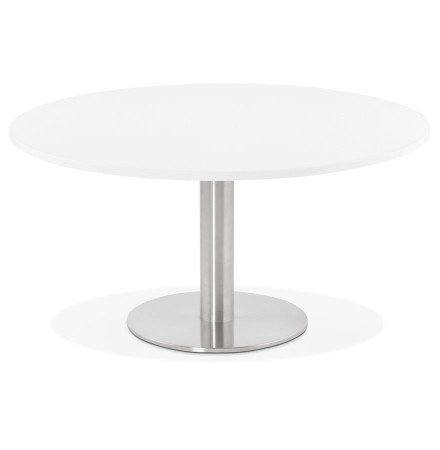 Table basse lounge HOUSTON blanche - Ø 90 cm