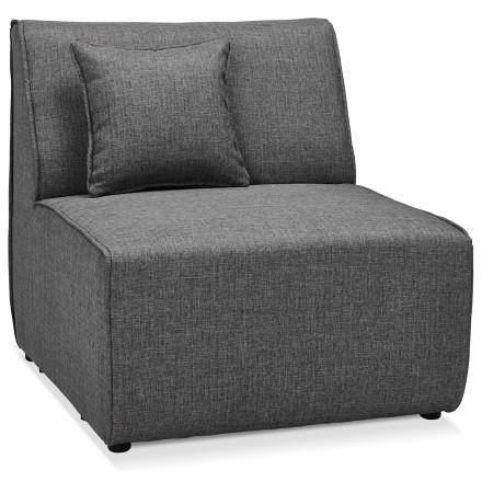 Élément 1 place de canapé modulable 'INFINITY SEAT' gris foncé