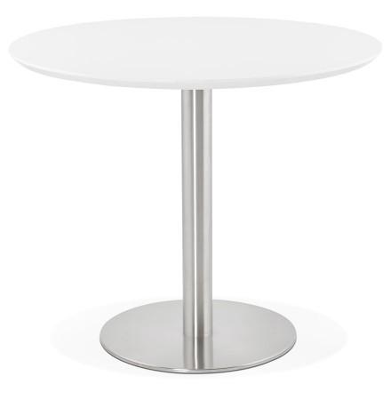Petite table de bureau / à diner ronde 'INDIANA' blanche - Ø 90 cm