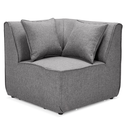Element coin de canape modulable INFINITY CORNER gris clair - Alterego