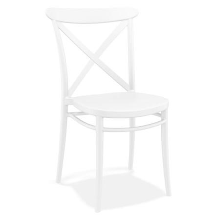 Chaise empilable 'JACOB' style rétro en matière plastique blanche