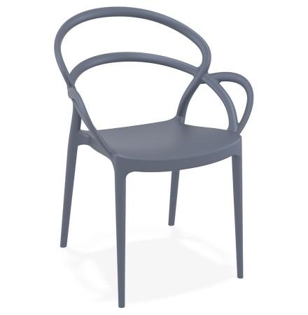 Chaise de terrasse 'JULIETTE' design gris foncé