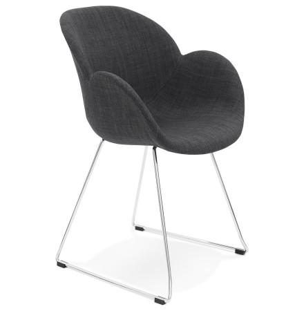 Chaise design 'JUMBO' grise foncée en tissu