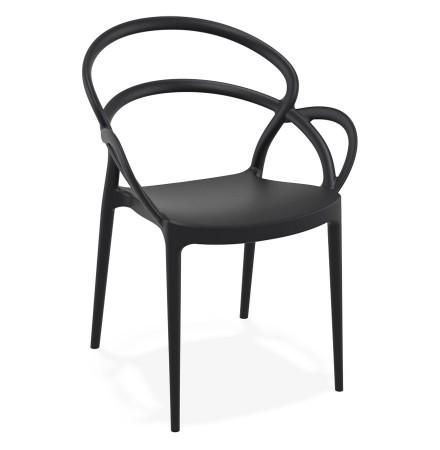 Chaise de terrasse 'JULIETTE' design noire