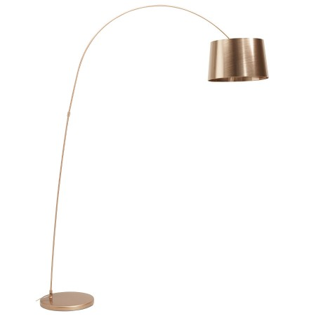 Lampadaire arqué design 'KALIPSO' couleur cuivre