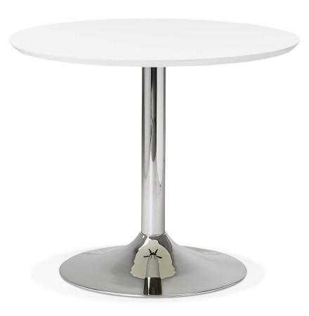 Petite table de bureau / à diner ronde 'KITCHEN' blanche - Ø 90 cm