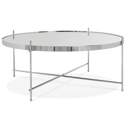 Table basse de salon 'KOLOS BIG' couleur chrome
