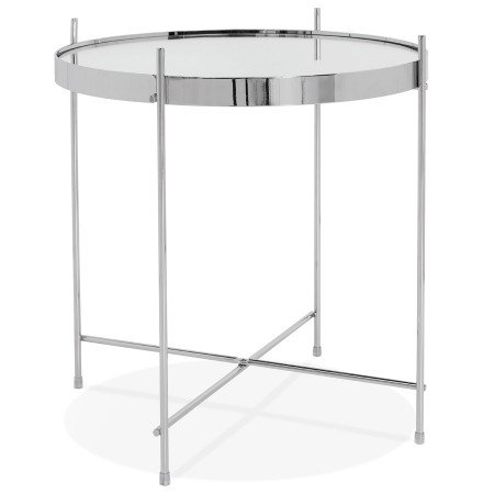 Table d'appoint pliable 'KOLOS' couleur chrome