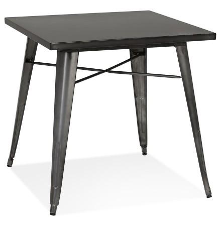 Petite table à dîner style industriel 'LALOU' grise - 76x76 cm