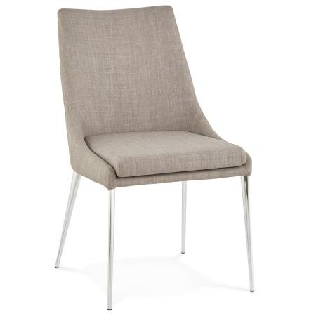 Chaise design LALY en tissu gris - Alterego