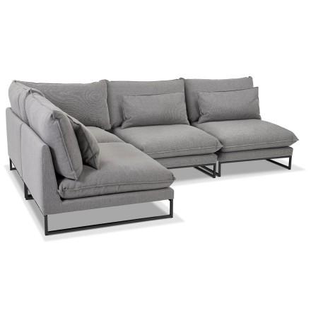 Canapé d'angle design 'LASKA ANGLE' en tissu gris clair
