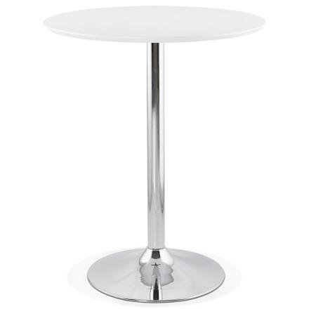 Mange-debout / table haute 'LIMA' blanche - Ø 90 cm