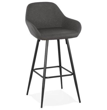 Tabouret de bar design 'LOUISE' gris