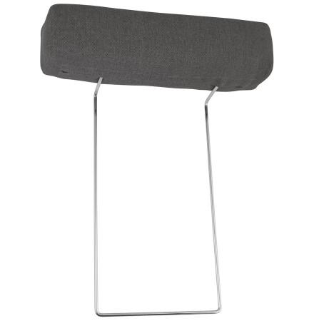 Appui-tête pour canapé 'LUCA' en tissu gris foncé