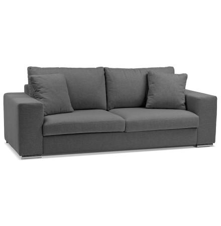 Canapé droit design 'LUCA LARGE' en tissu gris foncé - Canapé 2,5 places