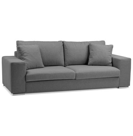 Canapé droit moderne 'LUCA' en tissu gris foncé