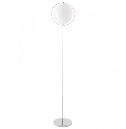 Lampadaire design 'LUNA' blanc avec lamelles en plastique flexibles