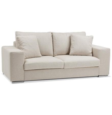 Canapé droit moderne 'LUCA MEDIUM' en tissu beige