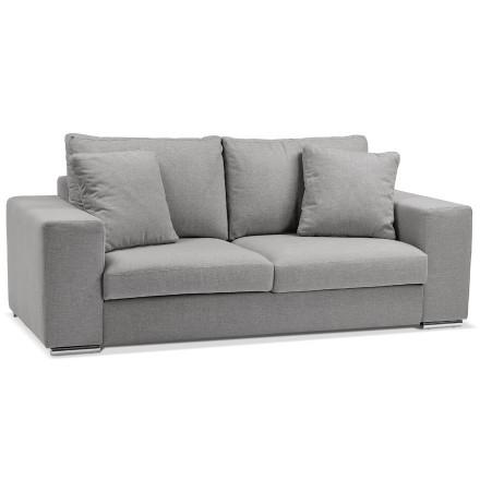 Canapé droit moderne 'LUCA MEDIUM' en tissu gris clair