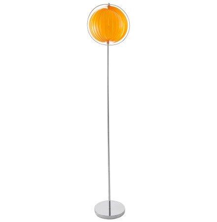 Lampadaire design 'LUNA' orange avec lamelles en plastique flexibles