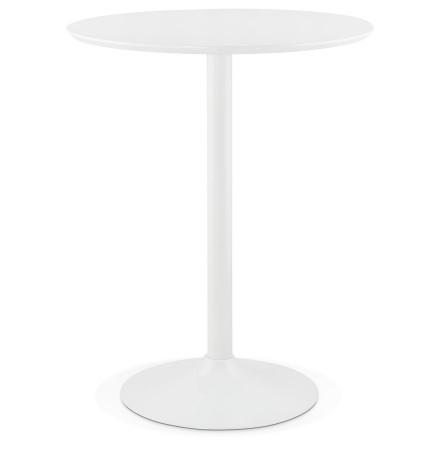 Mange-debout / table haute 'MADISON' blanche - Ø 90 cm