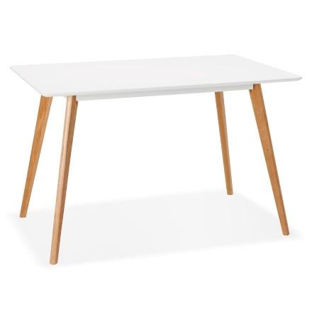 Petite table / bureau design 'MARIUS' blanche style scandinave - 120x80 cm