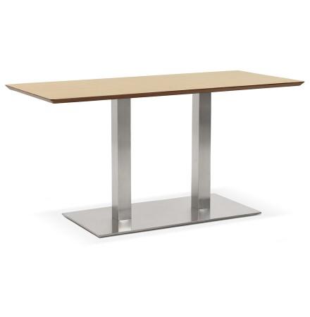 Table / bureau design 'MAMBO' en bois finition naturelle - 150x70 cm
