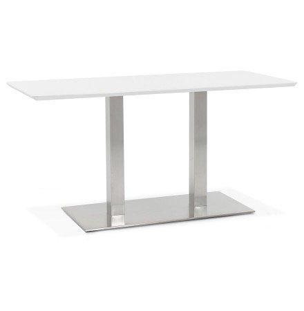 Table / bureau design 'MAMBO' blanc - 150x70 cm