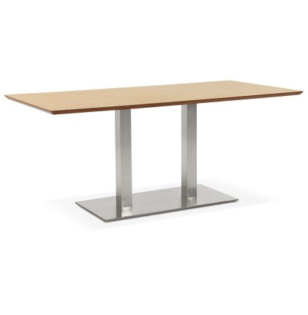Table / bureau design 'MAMBO' en bois finition naturelle - 180x90 cm