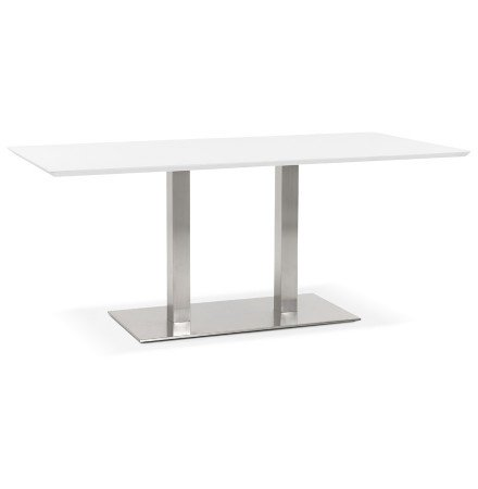 Table / bureau design 'MAMBO' blanc - 180x90 cm