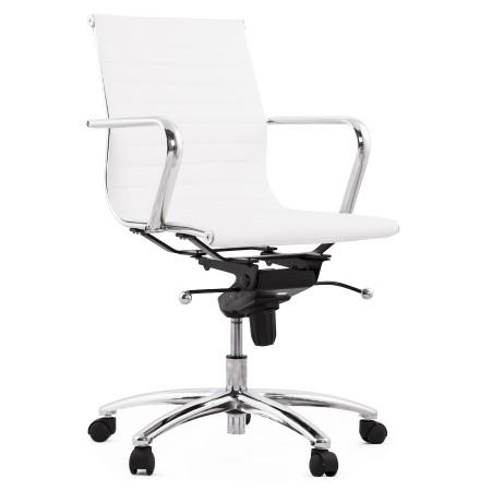 Fauteuil de bureau design MEGA en matière synthétique blanche - Photo 1