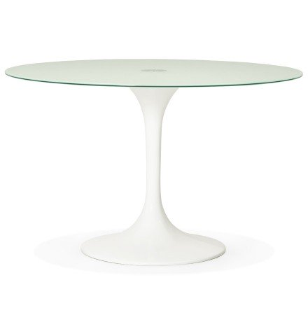 Table a diner design ronde ALEXIA blanche - Alterego
