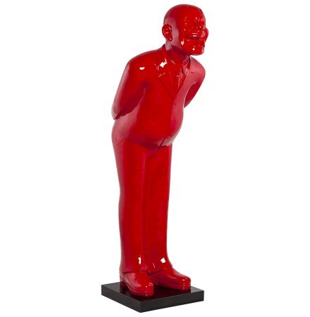 Statue déco 'MISTER' en polyrésine rouge