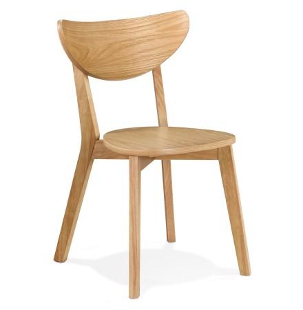 Chaise moderne 'MONA' en bois finition naturelle - Commande par 2 pièces / Prix pour 1 pièce