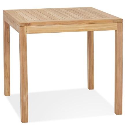 Table à diner carrée intérieure/extérieur 'MOUSTIK' en bois Teck naturel - 80x80 cm